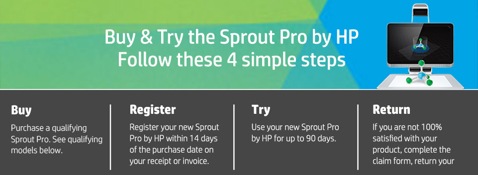 Sprout Pro by HP Buy & Try Landing Page