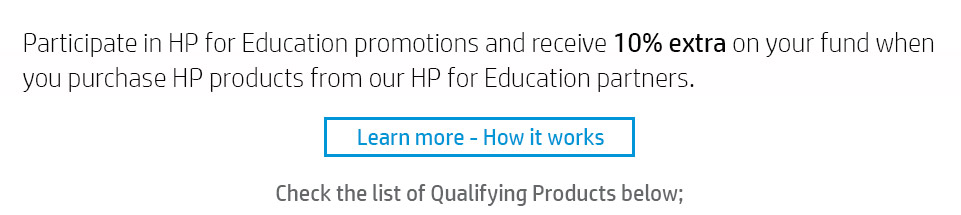 HP For Education Cashback Trade In Rewards